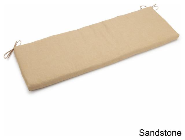 "63""x19"" Spun Polyester Bench Cushion, Sand"
