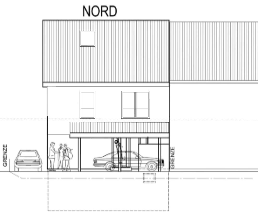 Grundrissoptimierung Neubau Nordfassade