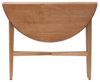Wood Hannah Round Double Drop Leaf Table Contemporary