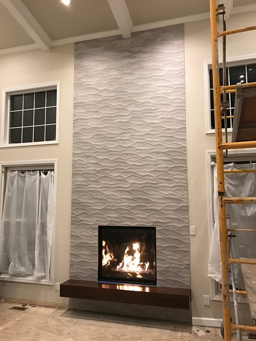 tiled fireplace edge trim