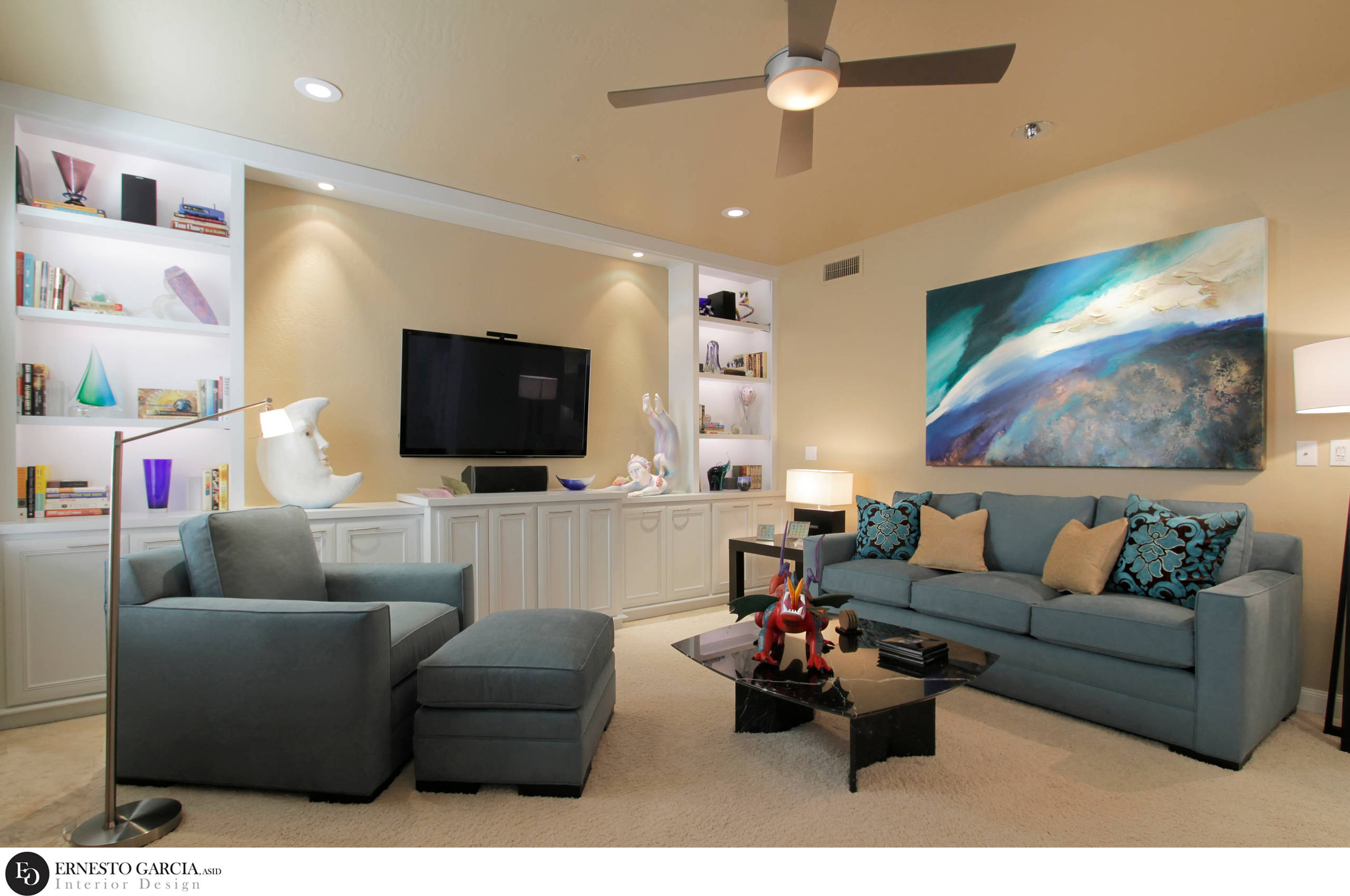 2012 FIRST PLACE WINNER * ASID AWARD - Family Room - General View