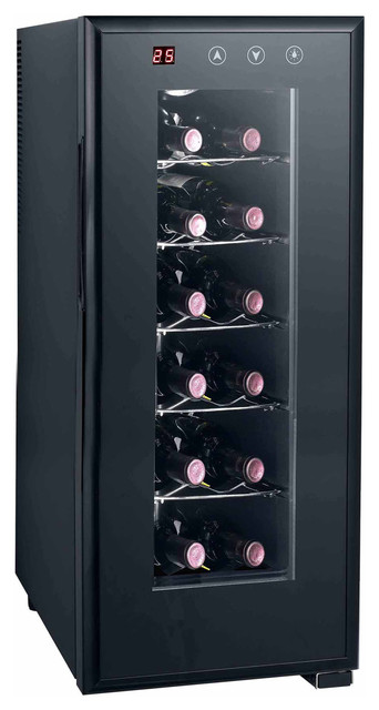 Thermo-Electric Wine Cooler With Heating, 12-Bottle.