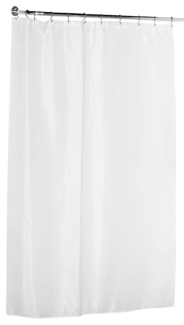 Fabric 84 Extra Long Shower Curtain White