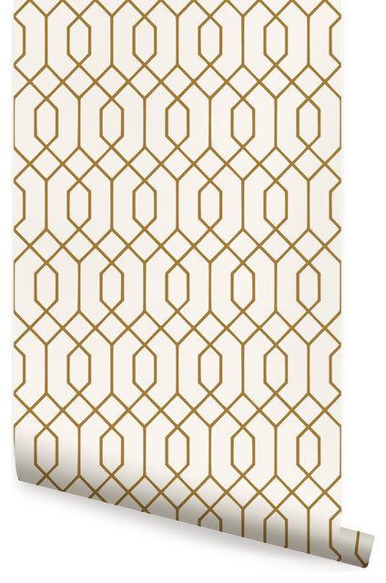 Geometric Hexagon Peel And Stick Wallpaper Contemporary Wallpaper By Simple Shapes