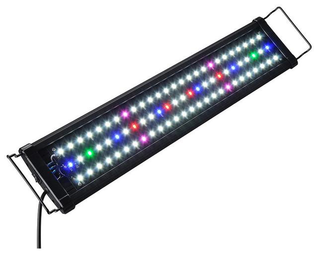 "24 Led Aquarium Light Multi-Color Full Spectrum Fit 24-30"" Fish Tank Freshwater"