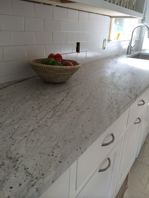 Kitchen Project Using 3cm River White Granite With A