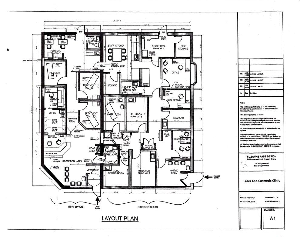 commercial space plan- medi -spa