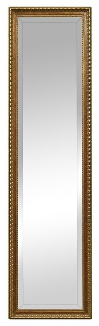 Arabella Cheval Antique Gold Rectangle Mirror.