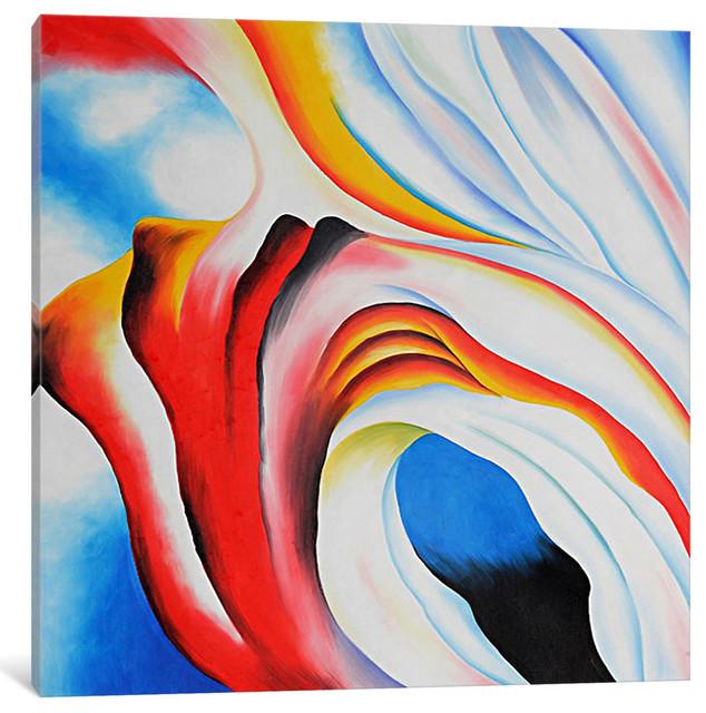 """music Pink & Blue"" By Georgia O&x27;keeffe, 37x37x0.75""."