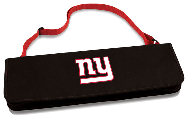 New York Giants Metro Bbq Tote & Tools Set, Red.