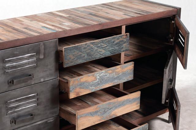 Boat Wood Cabinet Buffet Sideboard Detail Beach