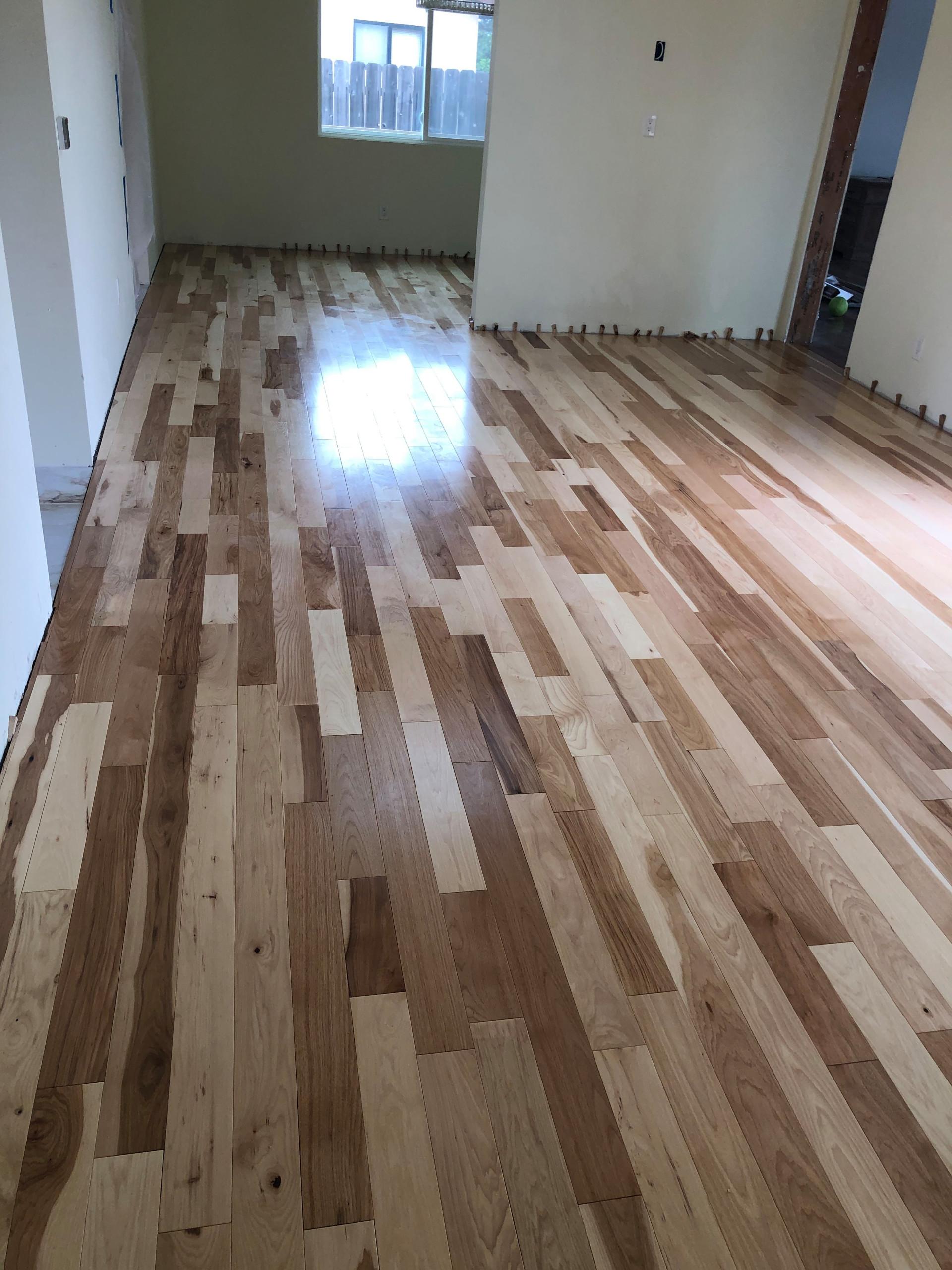 Sold hardwood floors