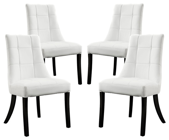 Lesse Dining Chair Faux Leather Set