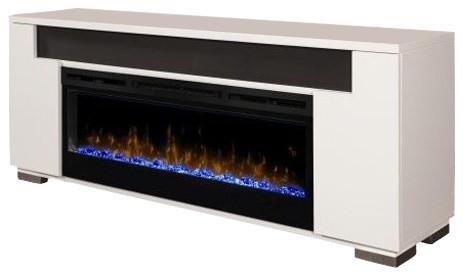 media console electric fireplace with soundbar 50 firebox rift rh houzz com