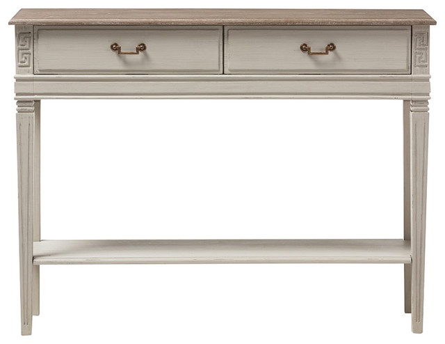 White Console Table With Drawer