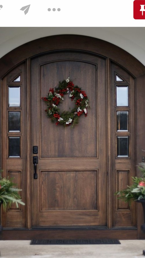 Arched Front Door With Side Lights