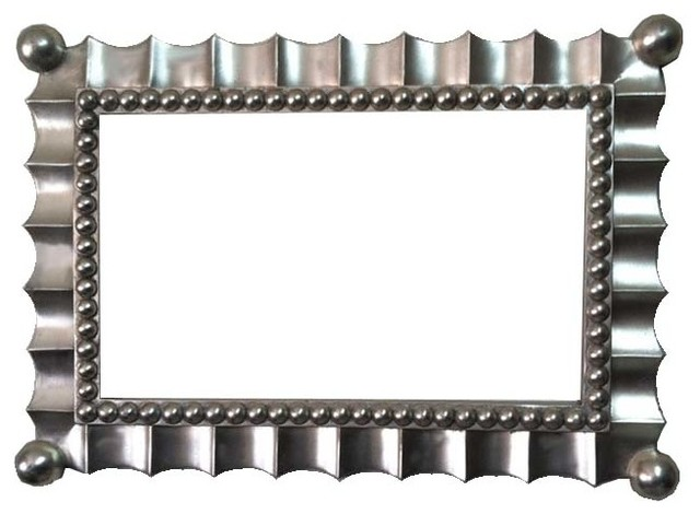 16x26 Rectangle Silver Mirror Frame Unique Modern Design Decorative