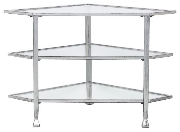 Jaymes Glass Corner Tv Stand Contemporary Entertainment Centers