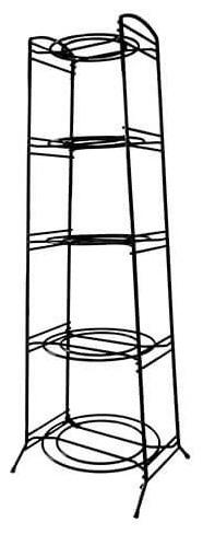 Delfinware Wireware Black 5-Tier Saucepan Stand