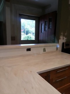 Corian Witch Hazel Countertops are in!!!