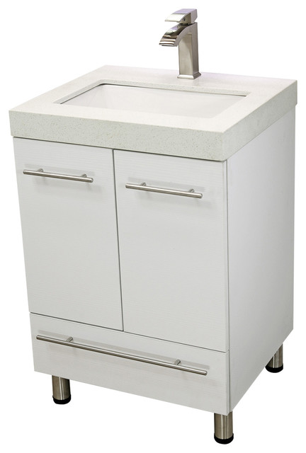 "Bathroom Vanity And Sink windbay 24"" free standing bathroom vanities sink - modern"