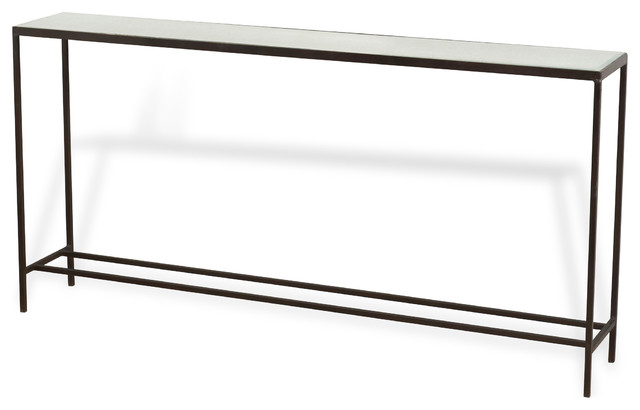 Howard Modern Thin Mirrored Wide Console Table