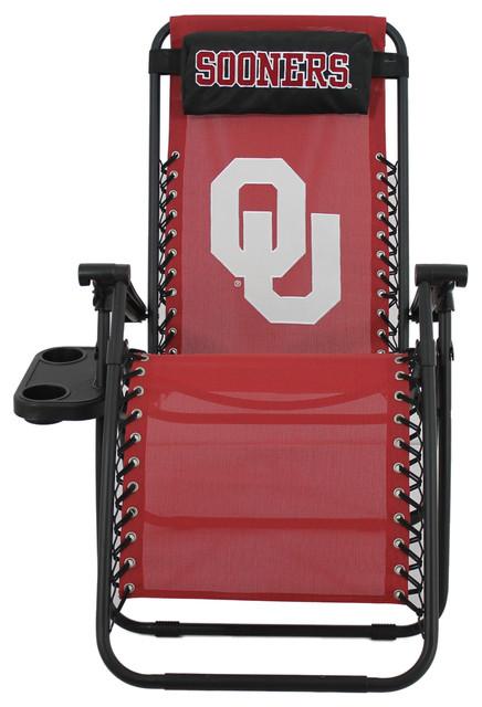 Oklahoma Sooners Zero Gravity Chair Contemporary
