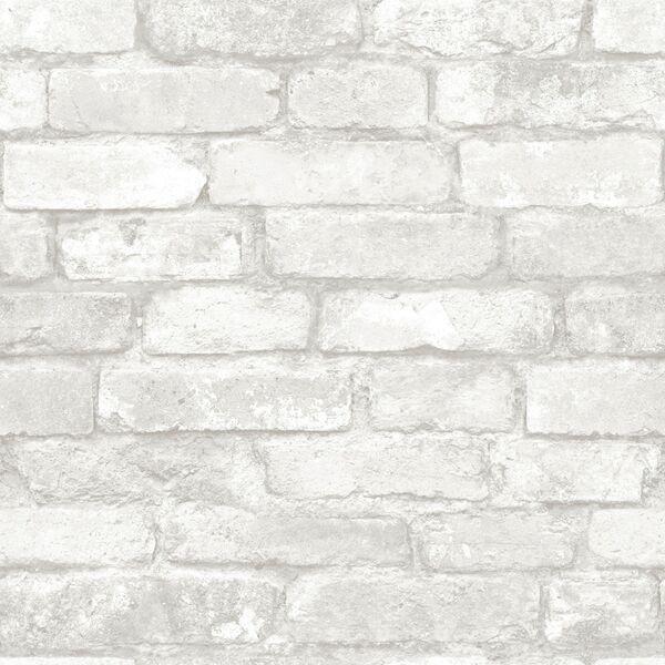 Gray Brick Peel And Stick Wallpaper Nu1653, Roll.