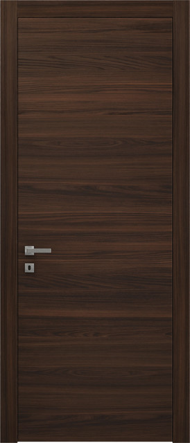 "Sarto Planum 0010 Interior Door Chocolate Ash Gorizontal 18""x80"", Left Hand."
