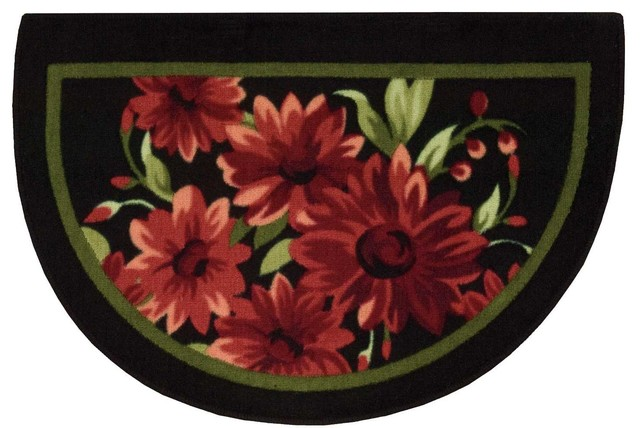 """Accent Decor Flowers Slice Accent Rug, Red, 1'8""""x2'6"""""""