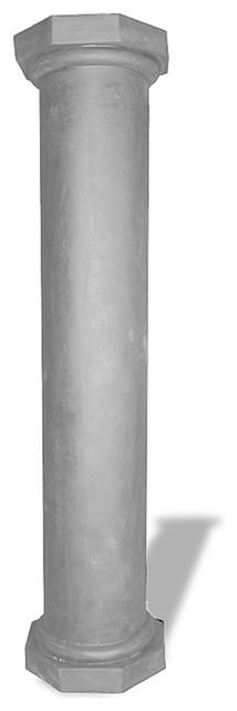 Doric Column, Lead Gray, 20x20x24.