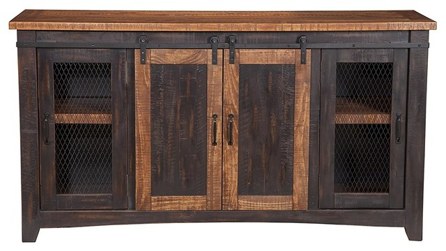 Gallardo Media Console, Antique Black.
