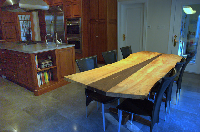 silver mapleblack walnut dining table sale price 4900 contemporary kitchen - Maple Kitchen Table