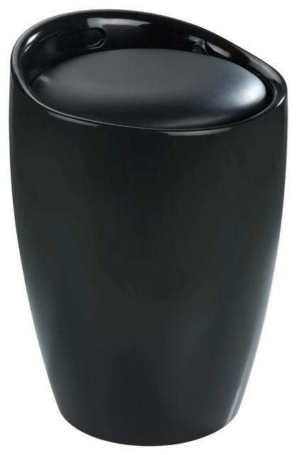 Candy Laundry Basket Stool, Black.