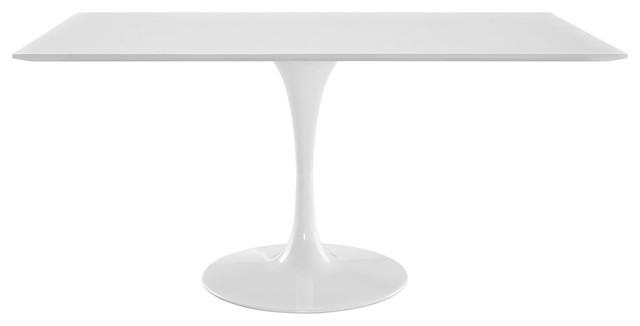 """Lippa 60"""" Rectangle Dining Table, White"""