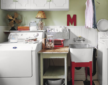 Laundry Room eclectic laundry room