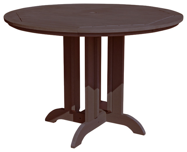 round 48 39 39 counter dining table traditional outdoor