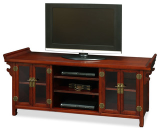 Elmwood Altar Style Media Cabinet - Asian - Media Cabinets - by China Furniture and Arts
