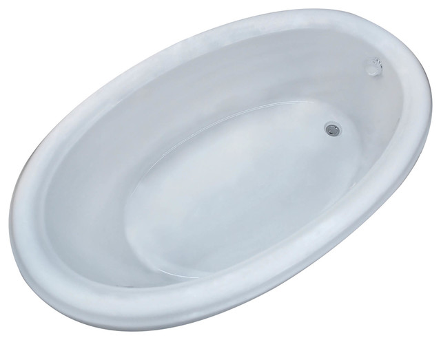 Belle 36 X 60 Oval Drop In Bathtub With Whirlpool Jetted