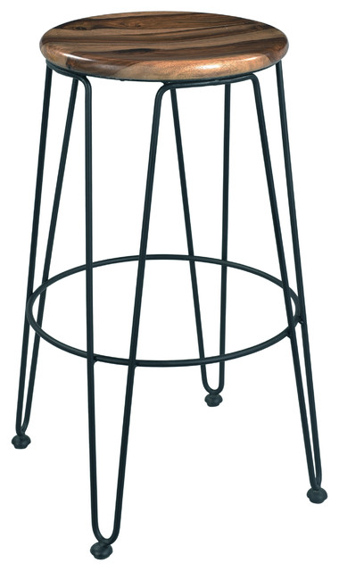 Sands Bradley Natural And Gunmetal Barstool Set Of 2
