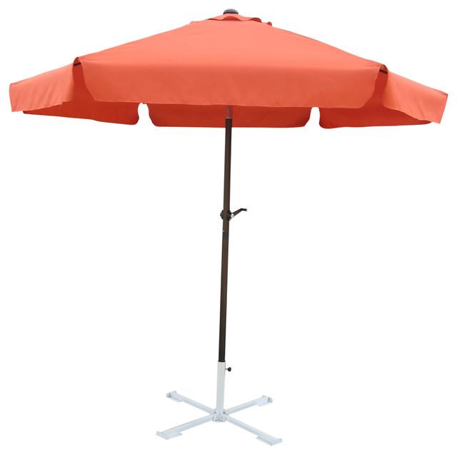 Outdoor 8 Foot Aluminum Umbrella,terra Cotta.