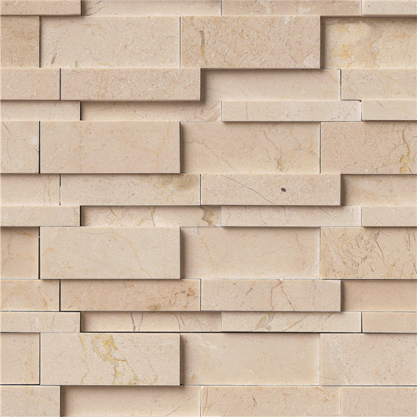 12 X12 Earth Yellow Interlocking Marble Mosaic Tile Contemporary
