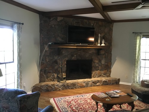 Update This Rock Wall Fireplace