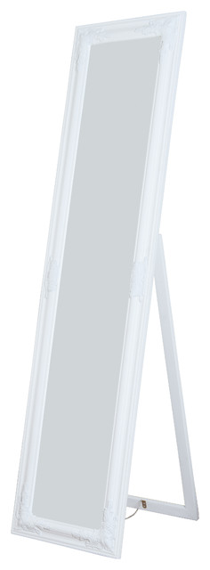 Mia Wooden Full Length Mirror, White. -1