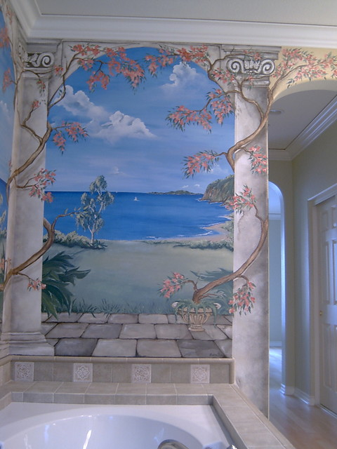 Murals mediterraneo orange county di red butterfly for Tetto in stile ranch