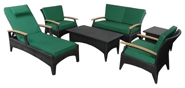 6 piece bellagio rattan deep seating set sr 016ds for Bellagio chaise lounge