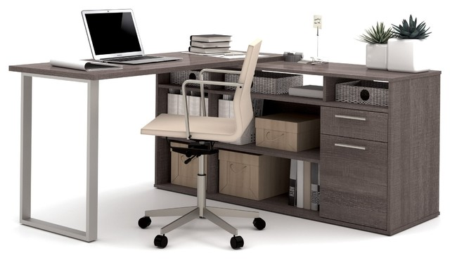 Modern L Shaped Desk Integrated