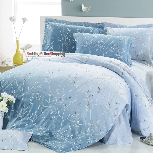 Satin Cotton Full Size 4 Piece Bedding Sets Contemporary Duvet Covers And