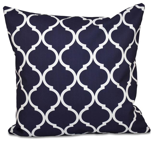 "French Quarter Geometric Print Pillow, Bewitching, 20""x20""."