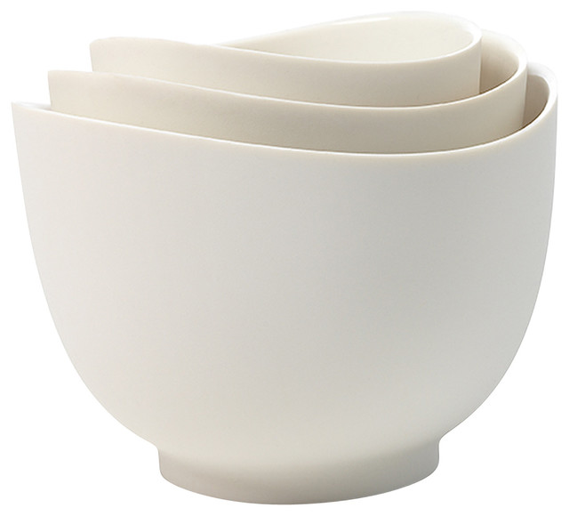 iSi Mixing Bowl Set White - Modern - Mixing Bowls - by eKitchenWorld